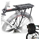 malayas Legierung Bike Fahrrad Radfahren Hinten Rack Seat Halter Gepäck Cargo Carrier mit Reflektor 50kg Kapazität