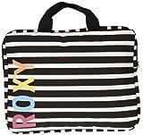 Roxy WPWBA591-062-S Lots To Do - Maletín para portátil (hasta 13', tamaño pequeño), diseño de rayas, color negro y blanco