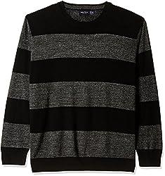 Nautica Mens Cotton Sweater (8907259495057_NTS536370TB_XX-Large_True Black)