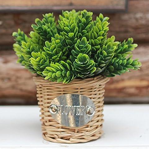 KXZZY Home decorazioni ornamenti floreali di emulazione verde Sassy vasi di piante ornamentali , verde ghiandola pineale