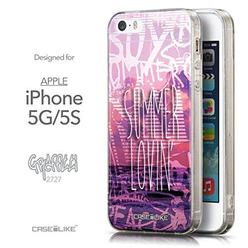 CASEiLIKE Comic Beschriftung 2914 Ultra Slim Back Hart Plastik Stoßstange Hülle Cover for Apple iPhone 5G / 5S +Folie Displayschutzfolie +Eingabestift Touchstift (Zufällige Farbe) 2727