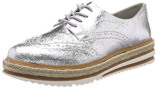 Tamaris Damen 23709 Sneaker, Silber (Silver Crack), 37 EU