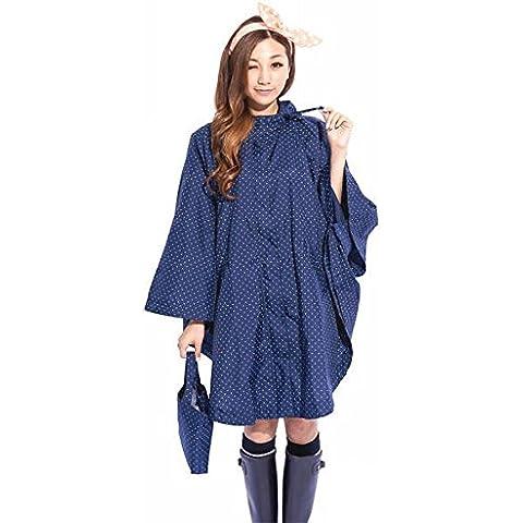 Lluvia de la moda de la chaqueta Xagoo con capucha de las señoras con estilo ropa impermeable del impermeable de señora Girls Women de secado rápido Capa precioso linda Poncho (Estilo 2)