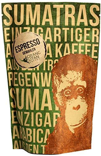 Orang-Utan Sumatra Arabica Espresso gemahlen 250 g
