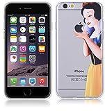 Cover Biancaneve Per iPhone 7 4.7'' Case TPU Gomma Morbida Trasparente Silicone Ultra Sottile Slim 0,33 MM Disegno Personalizzato Cartoni Animati kaser