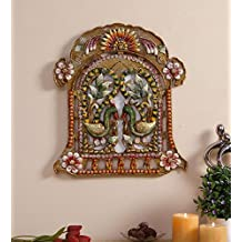 999Store Indian handicrafts Rajasthani Wall Home Decor Decoration Decorative Wall Art peocock jharokha Family Wall Hanging Mounted Photo Frame