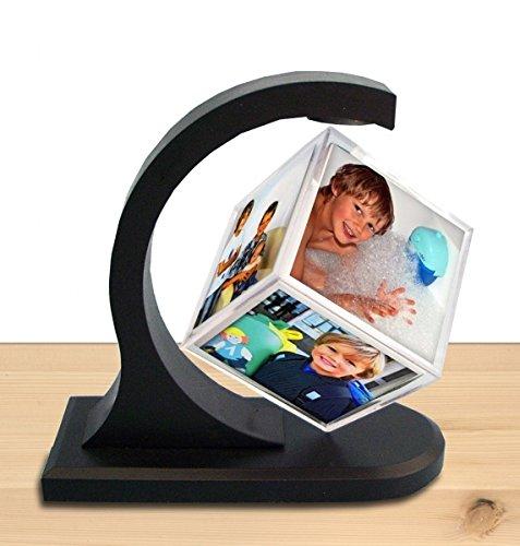 CEBEGO magisch schwebender Fotowürfel mit Magnet LACHEN, Magic Photo Cube,Fotogeschenke schwebend Magnet