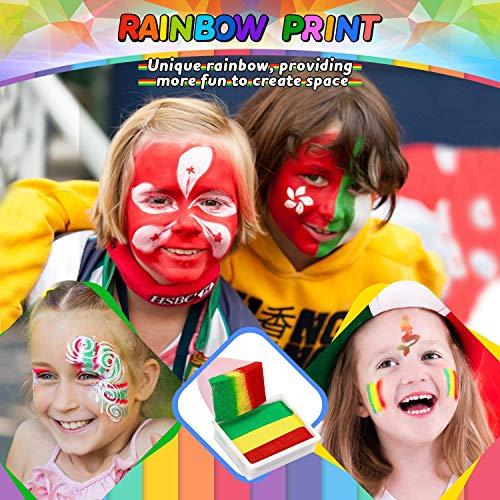 Dookey Pintura Facial,  Maquillaje al Agua,  Pinturas Cara para Halloween/Fiestas/Cosplay,  con 17 Colores,  2 Purpurina,  24 Formas de Plantilla,  ect...