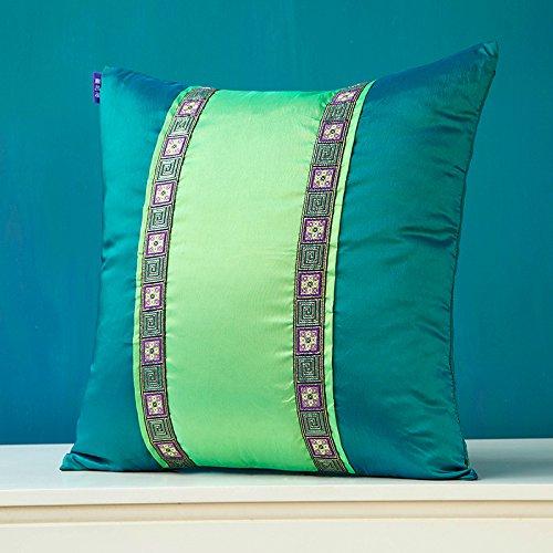 LY&HYL cuscini Comodini colore scuro frutta verde panno di seta verde bilaterale cuscino divano moderno e minimalista cuscini , 40*40