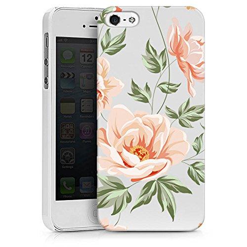 Apple iPhone 4 Silikon Hülle Case Schutzhülle Blume ohne Hintergrund Flower Hard Case weiß