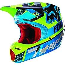 Fox Racing 2016 V3 Helmet - Divizion (MEDIUM) (BLUE/YELLOW) by FoxPrint