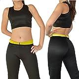 DP Design® Conjunto Camiseta y Pantalón adelgazante Top Camiseta Pantalones Cortos Fitness Sauna Talla M