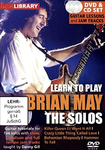 Lick Library - Learn To Play Brian May: The Solos (+ Audio-CD) [2 DVDs]