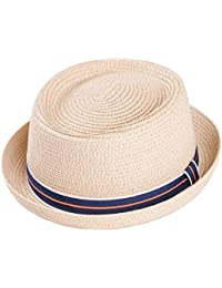 Trilby Straw Hat Sun With Feather Detail Ribbon By Adonis /& Grace