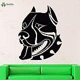jiushizq Sticker Américain Pitbull Terrier Chien Stickers Muraux Vinyle Art Design Animal Cool Amovible Salon Décoration S Blanc 42x53 cm