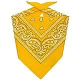 Lipodo Bandana Tuch Damen/Herren/Kinder | Kopftuch in gelb aus 100% Baumwolle | Multifunktionstuch in Einheitsgröße (55 x 55 cm) | vielfältige Tragemöglichkeiten