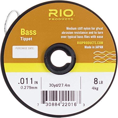 Rio Fly Angeln Habit, Bass Habit, 30YD 7,3kg Angeln Tackle, transparent