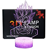 3D Lámpara de Escritorio NHSUNRAY 7 colores LED Touch lámpara de...
