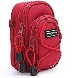 Funda Bundlestar para cámaras modelo Redstar V3 universal, de color rojo(modelos compatibles:consultar las características del producto)
