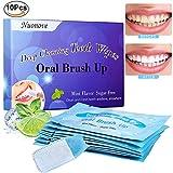Zähne Reinigung Strips, Zahnaufhellung Streifen, Zähne Wischt, Zahnreinigung Mundpflege, perfekt für Camping, Reisen, Reinigung Zähne auf der Go, 10PC