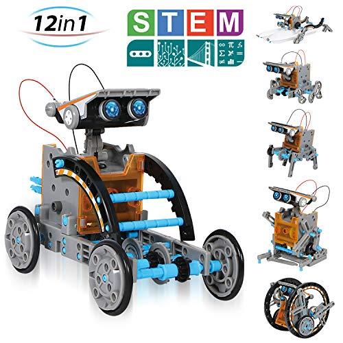 CIRO Solar Roboter 12 in 1 Bauspielzeug Lernspielzeug 12 Verschiedene Modelle Solar Experiment für Jungen und Mädchen
