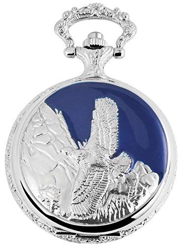 fame-analog-reloj-de-bolsillo-con-cadena-de-metal-y-cierre-de-gancho-aguila-pajaro-480822000027-azul