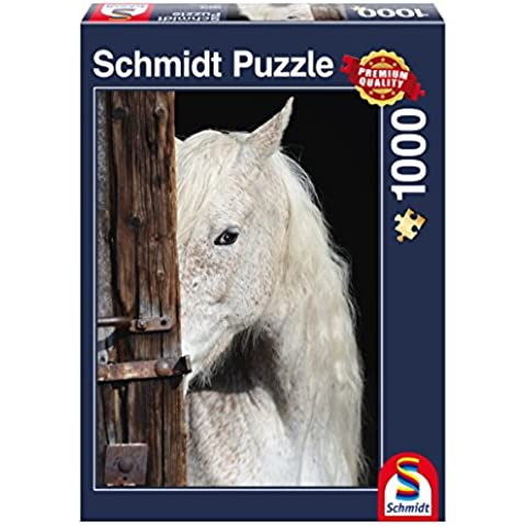 Schmidt Spiele 58278–Caballos Belleza, rompecabezas, 1000Piezas