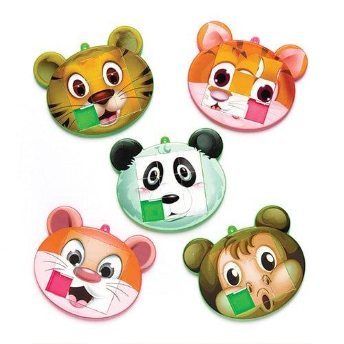 Baker Ross Puzzle Pousse-Pousse Animaux (Lot de 6) - Petit Jouets pour Pochettes-Surprises des Enfants
