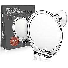 Miusco Anti-Vaho Espejo De Maquillaje Espejo Para Afeitarse Con Una Potente Herramienta De Bloqueo Copa De Succión