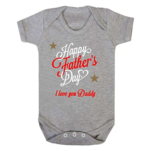 Purple Penguin Clothing Baby Grow - Happy Father