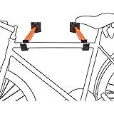 Relaxdays Support mural pour vélo set de 2 pièces porte-vélos
