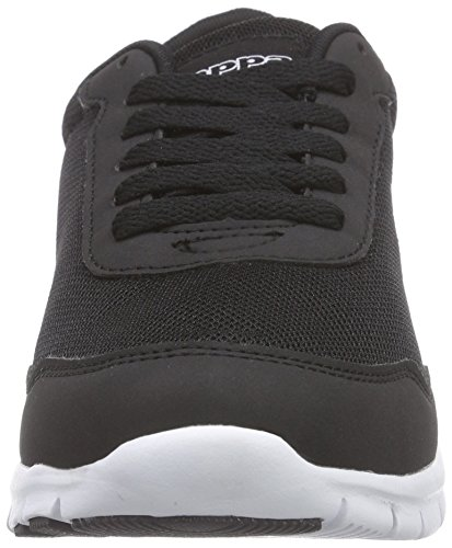Kappa MELO Unisex-Erwachsene Sneakers Schwarz (1110 BLACK/WHITE)