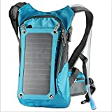 Ergonomische Solar Charger Rucksack (7W), Trinkrucksack Backpack (2L-Blasen-Beutel), mit abnehmbarer Sonnenkollektor Aufladung für iPhone 6 und 5s 5c 5 4s 4, ipad mini, Samsung Galaxy S3 S4 S5, Blackberry und andere USB-kompatible Geräte (blau)