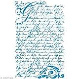 Rayher Hobby RAYHER 45067000, Vintage Poesie, DIN A5, 1 Schablone mit 1 Rakel im SB-Btl.