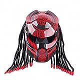 GUO Motorrad Persönlichkeit Helm Predator Krieger Carbon Fiber Helm,EIN,M