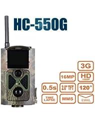 3G 16MP HD lleno Trailcamera HC-550 G 48 LED Negro desencadenar 0,5 seg cámara de vigilancia cámara trampa Caza Ángulo de visión 120° Soporta 3G / 2G GSM / MMC / SMTP / SMS