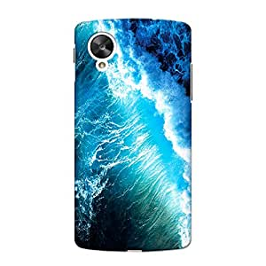 CrazyInk Premium 3D Back Cover for Nexus 5 - Water Tides