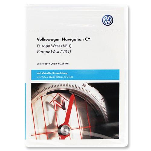Preisvergleich Produktbild Westeuropa - 1T0 051 859 M - Original Volkswagen für RNS510 / RNS810 (V6.1 / Version 2010 / 2011 / DVD)
