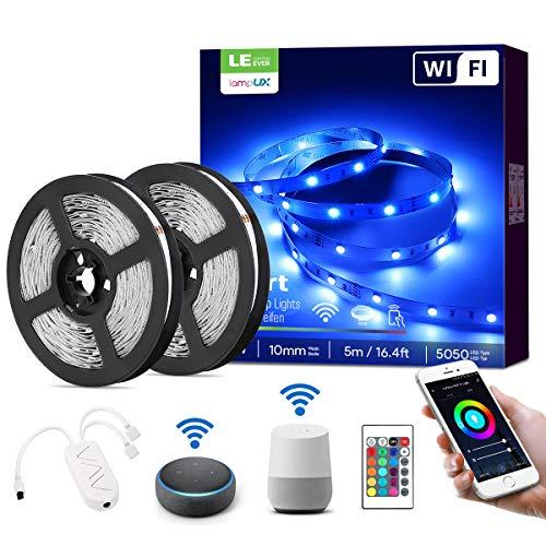LE Ruban LED Connecté WIFI 10M 36W RGB 5050, Bande LED Adjustable Connectée Smartphone APP,...