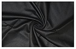 V Walkers Cotton Poly Blend Self Design Un-Stitched Trouser Fabric for Men (1.30 MTR_Black_VST105)