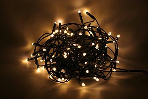 LED Lichterkette Strom betrieben außen warmweiß 240 LED 21 m | wunderschöne Weihnachtsbeleuchtung für innen und außen | mit warmweißen LED | mit Stecker IP 44 Klassifikation | Gesamtlänge 21 m