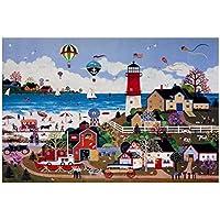 [Happy Town] 1000 Piece Wooden Jigsaw Puzzles Classic Rompecabezas de juguete