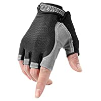 YJZQ Men Women Sports Half Finger Gloves Mittens Breathable & Non-slip Cycling Gloves Shockproof Fingerless Gloves for for Riding Motorcycle Bike Camping Hiking Climbing Fitness UV protection Gloves