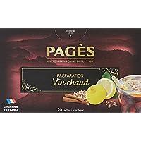 Pagès Préparation aromatisée pour Vin chaud 20 Sachets - Lot de 4