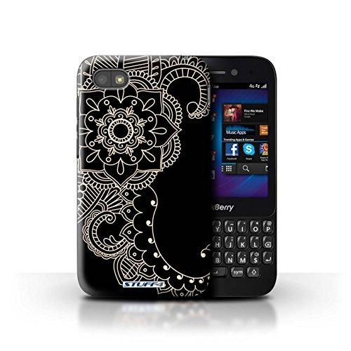 Stuff4® Hülle/Hülle für BlackBerry Q5 / Blume/Schwanz Muster/Henna Tätowierung Kollektion