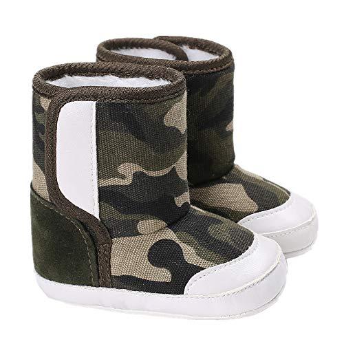 Morbuy Chaussures Bébés Unisexe Enfants Toile, Nouveau Né Toddler Fond Mou Antidérapant Marcheurs (11cm / 0-6 Mois, Camouflage)