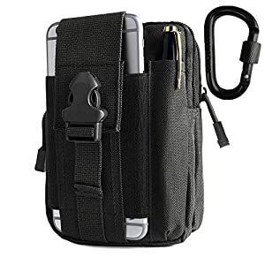 51tDYMaDwPL. SS300  - BeGrit Belt Pouch Universal Multipurpose Capacity Oversize EDC Bag Tactical Pouches Smartphone Holster Security Pack…