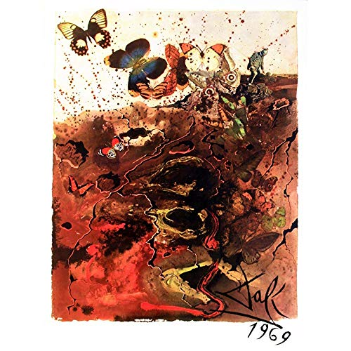 Wee Blue Coo LTD Painting Old Masters Dali Butterfly Art Print Poster Wall Decor Kunstdruck Poster Wand-Dekor-12X16 Zoll