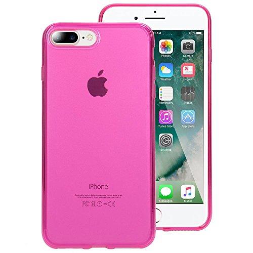 iPhone 8 Plus / 7 Plus Hülle Handyhülle von NICA, Ultra-Slim Silikon Case Cover Crystal Schutzhülle Dünn Durchsichtig, Etui Handy-Tasche Backcover Transparent Bumper für Apple iP 7+ / 8+, Farbe:Türkis Pink