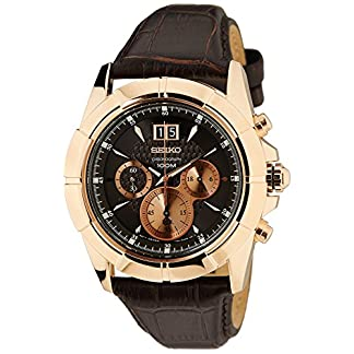 Seiko Lord Chronograph Black Dial Men's Watch-SPC114P1